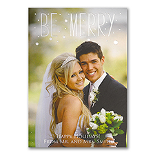 Mr. and Mrs. Holiday - Photo Holiday Card